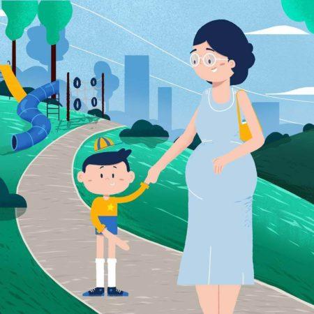 Parenting - kobieta z dzieckiem